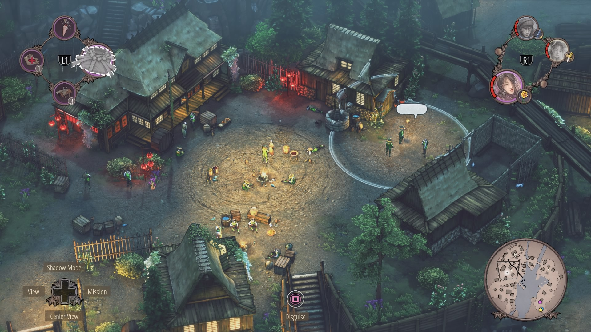 Shadow Tactics Walkthrough | Mission 6: Hida Village