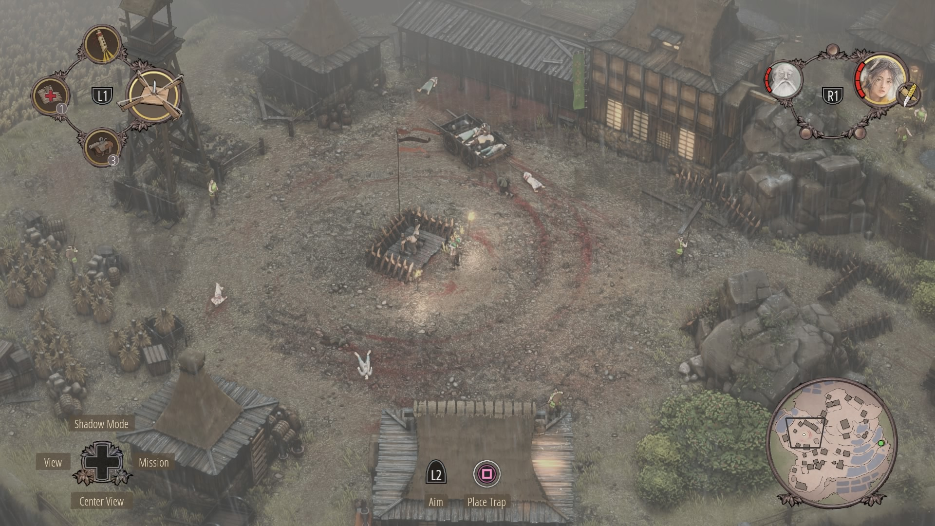 Shadow Tactics Walkthrough | Mission 7: Suganuma Village