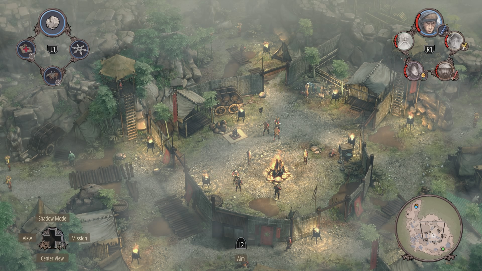 Shadow Tactics Walkthrough | Mission 9: Kage-sama's Camp