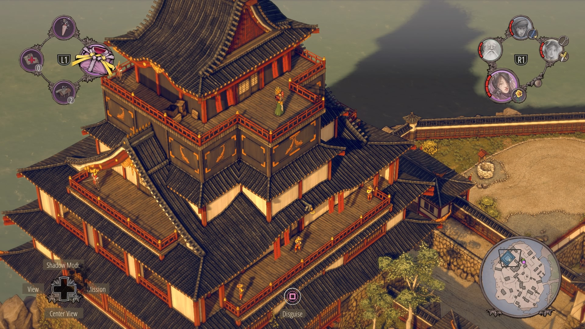 Shadow Tactics Walkthrough | Mission 13: Sunpu Castle