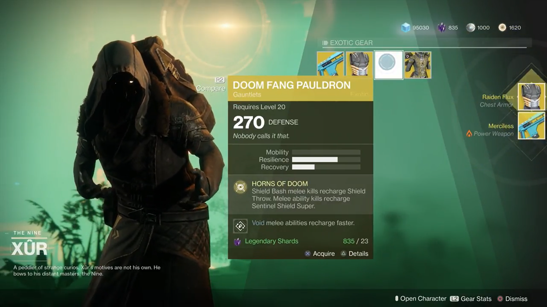 Xur Is Kind Of A Big Deal In Destiny 2 This Mysterious Vendor Sells Exotic Weapons And Armor For Legendary Shards The New Currency Your Guardians Earn