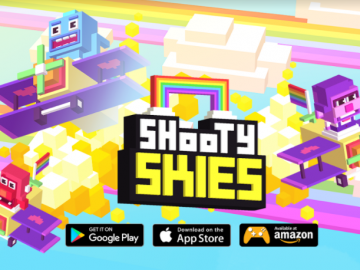 Shooty Skies Adds a Splash of Colour With Rainbow Riders Update