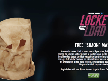 Get A Free Payday 2 DLC 'Simon Mask' Here