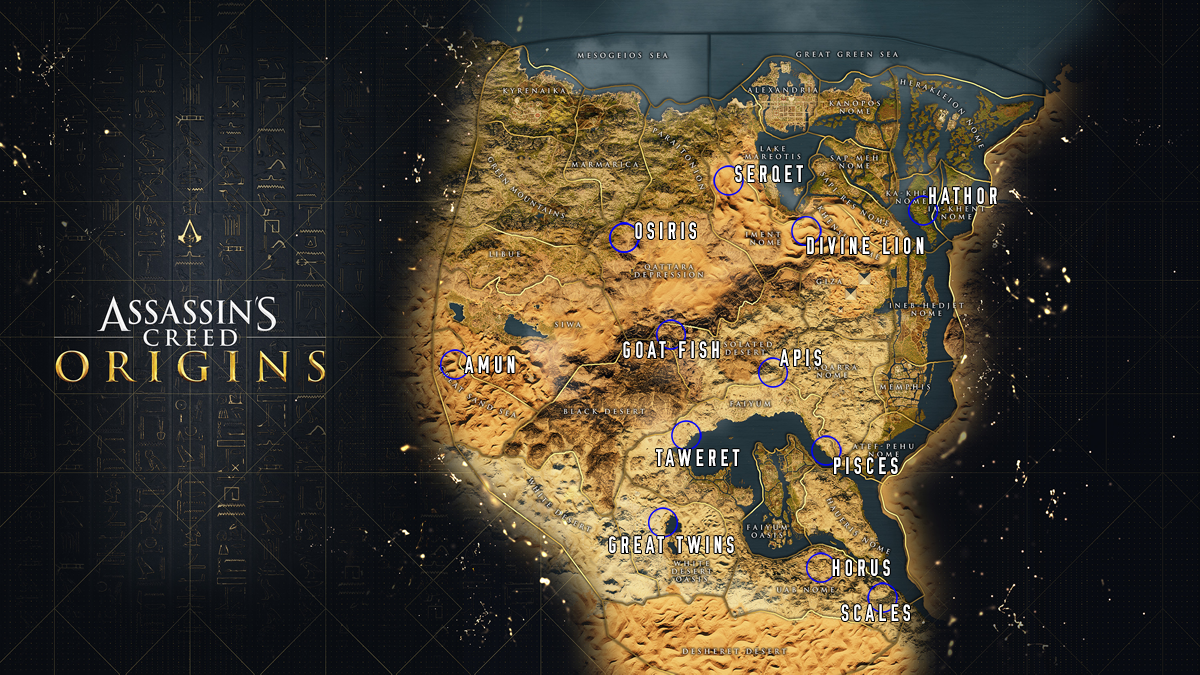 Assassin S Creed Origins Where To Find All 12 Stone Circles Collectibles Guide Gameranx