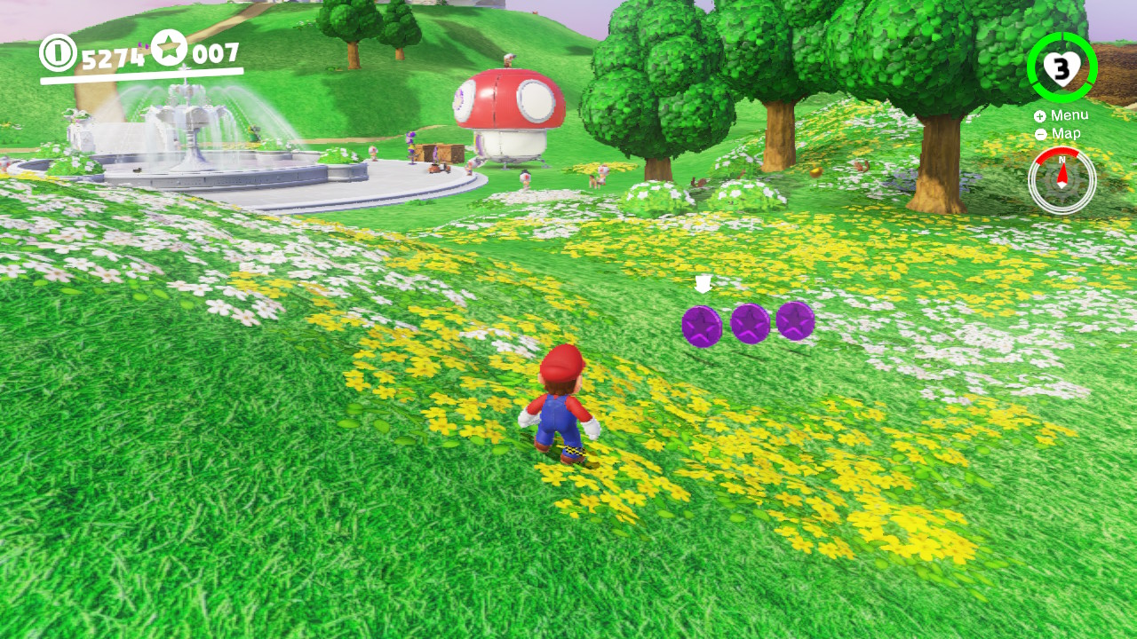 Super Mario Odyssey All 100 Purple Coins Locations Mushroom