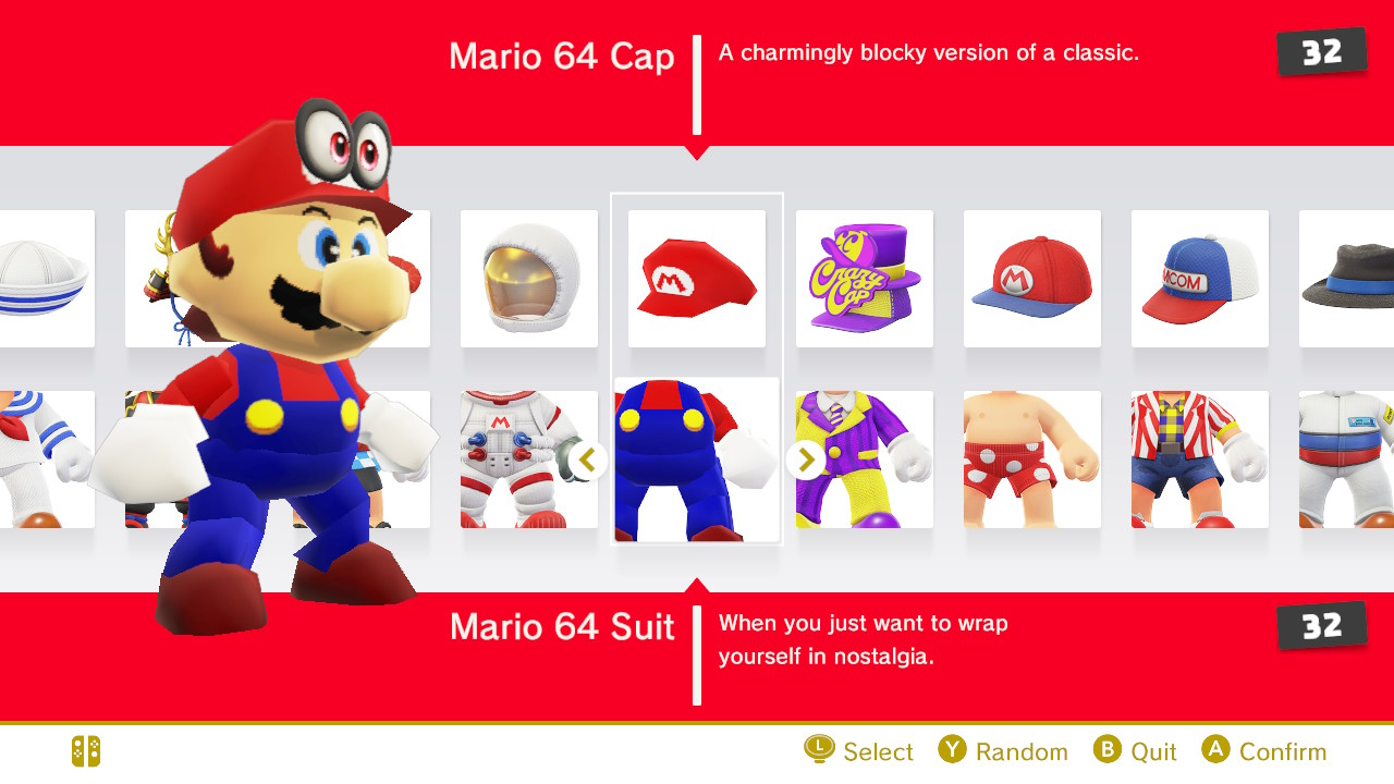 Super Mario Odyssey Check Out Every Mario Outfit All Costumes