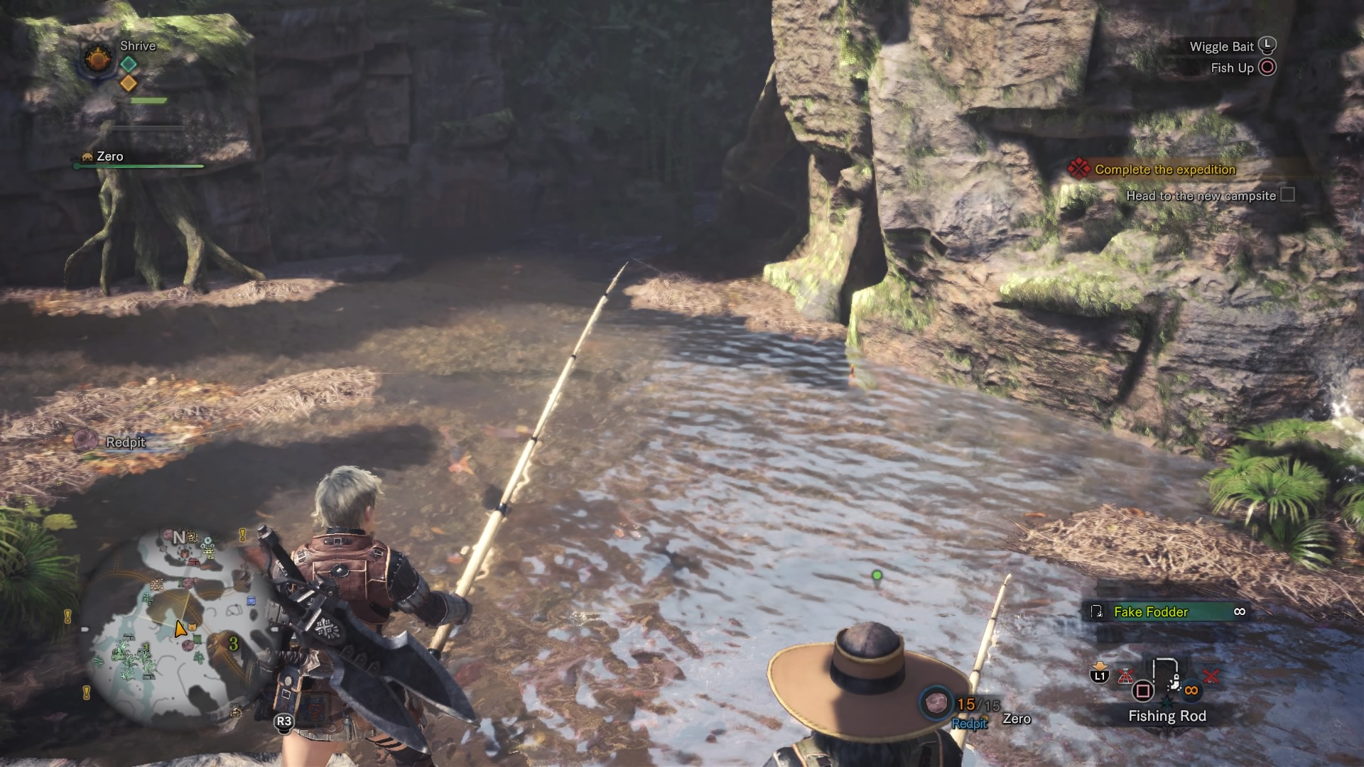 Monster hunter world how to catch prehistoric fish living the petricanths is an incredibly rare fish the rarest in the game and it only spawns in one singular spot solutioingenieria Image collections