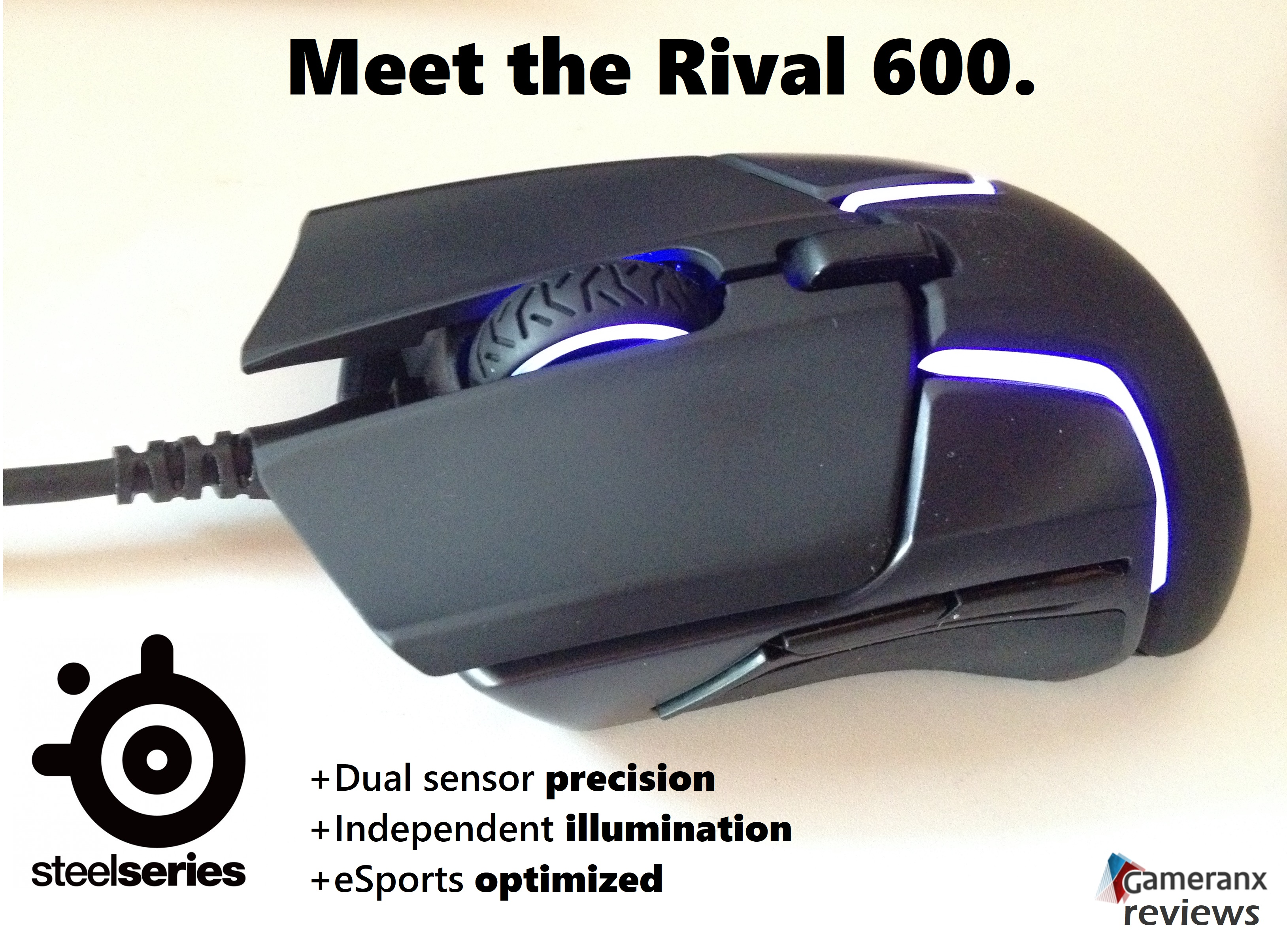 SteelSeries Rival 600 Gaming Mouse Review - Gameranx