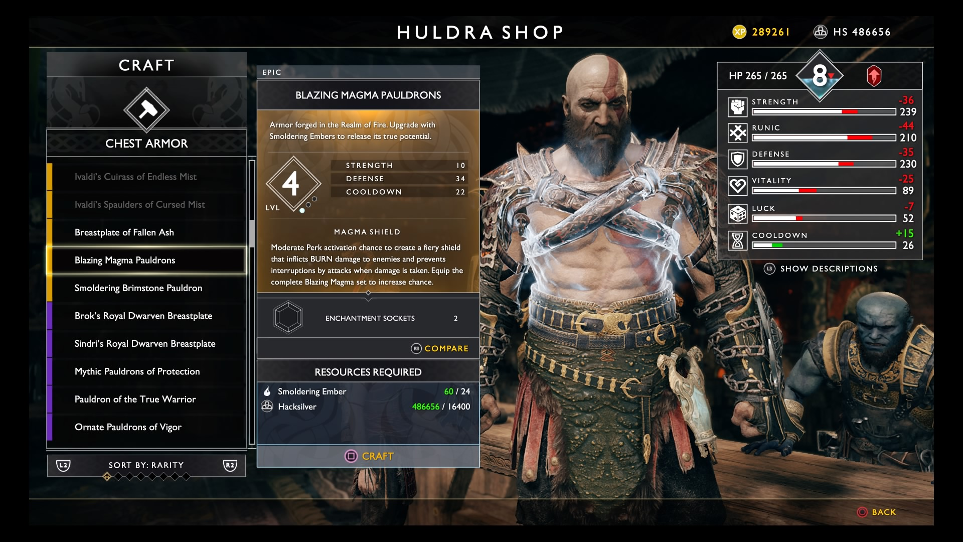 God of War (2018): How To Get The Best Armor Sets   Valkryie, Magma