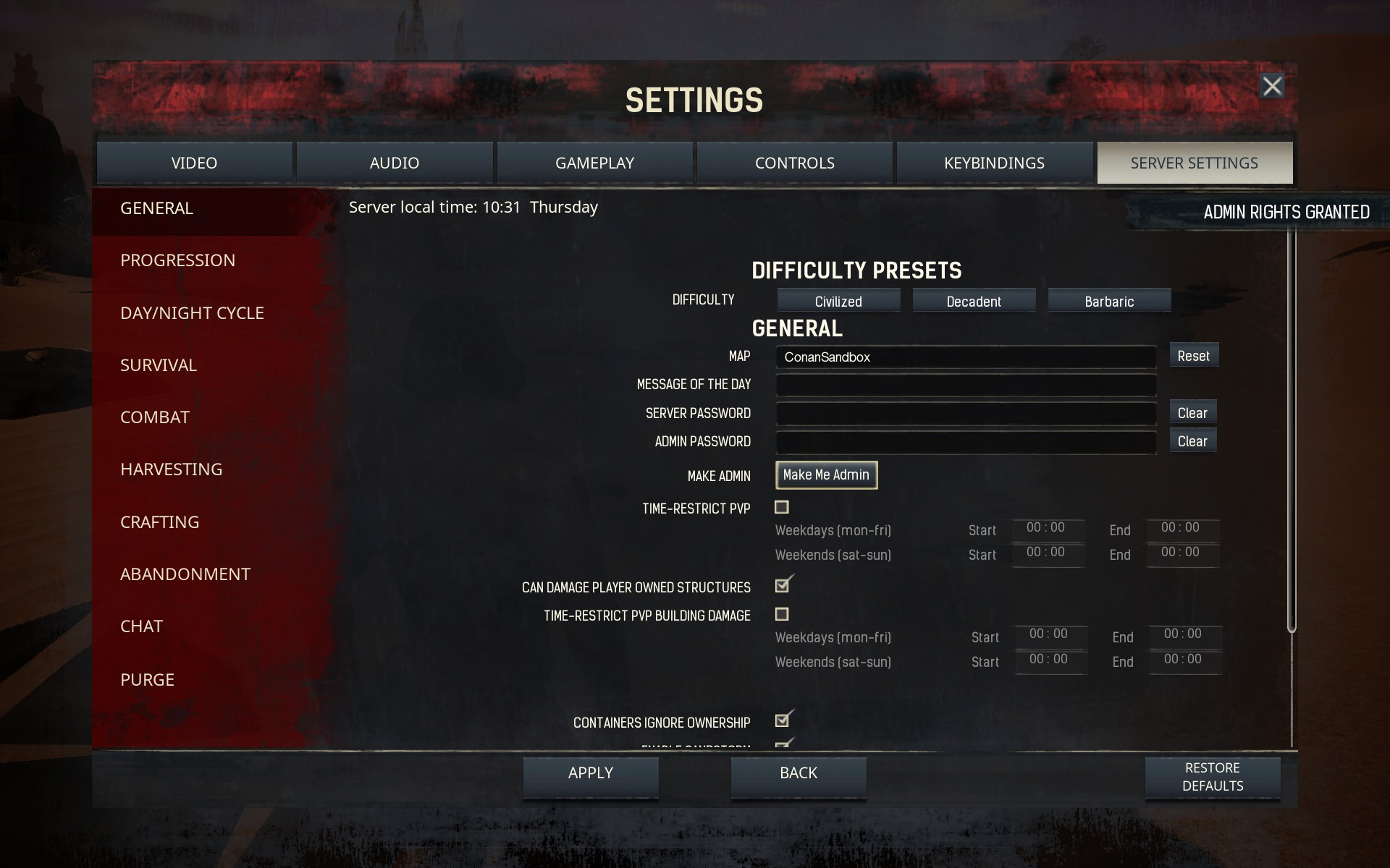 Conan: Exiles - How To Use The Admin Panel | Cheat Codes Guide