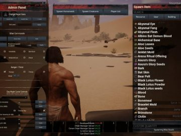 Conan: Exiles – How To Use The Admin Panel | Cheat Codes Guide