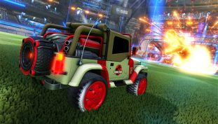 Rocket League Launches A Jurrasic World Skin Pack