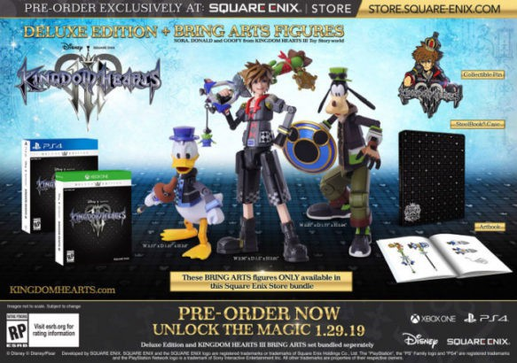 Kingdom hearts 3 deluxe edition bundle revealed during e3 kingdom hearts 3 square enix store edition 583x410 malvernweather Gallery