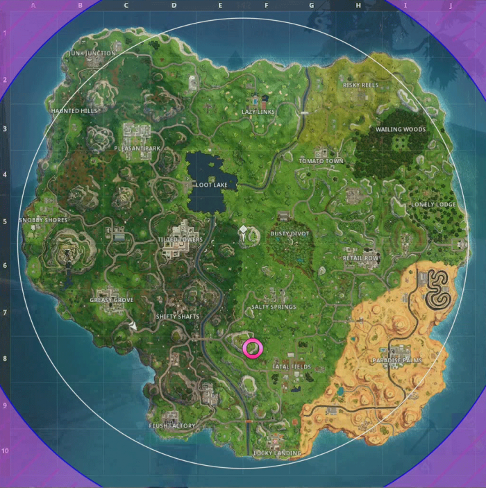 If you bought the Fortnite Battle Royale Season 3 Battle Pass and are trying to follow the Dusty Depot treasure map heres a little guidance