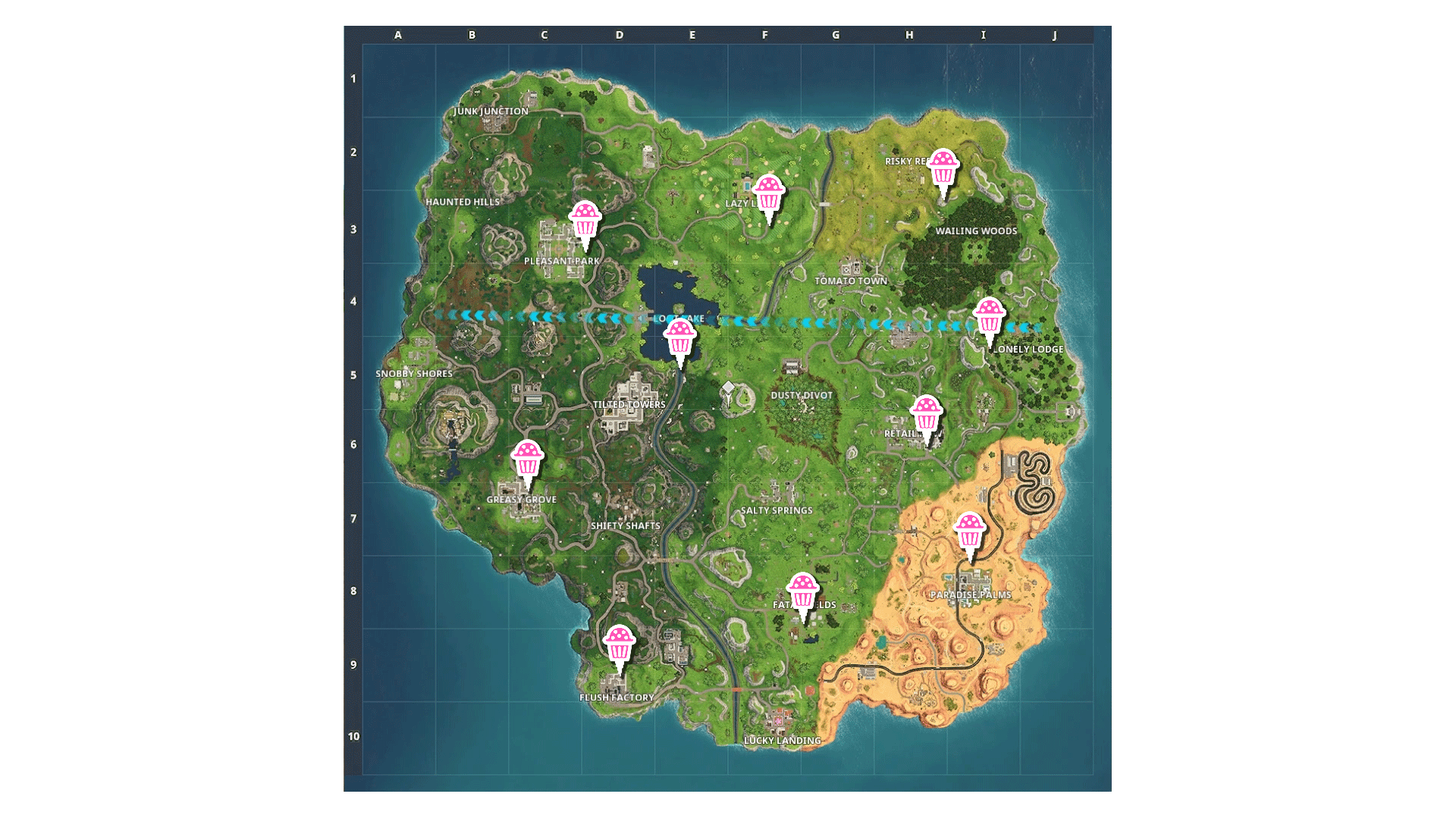 Fortnite Battle Royale One Year Anniversary Challenge Guide All