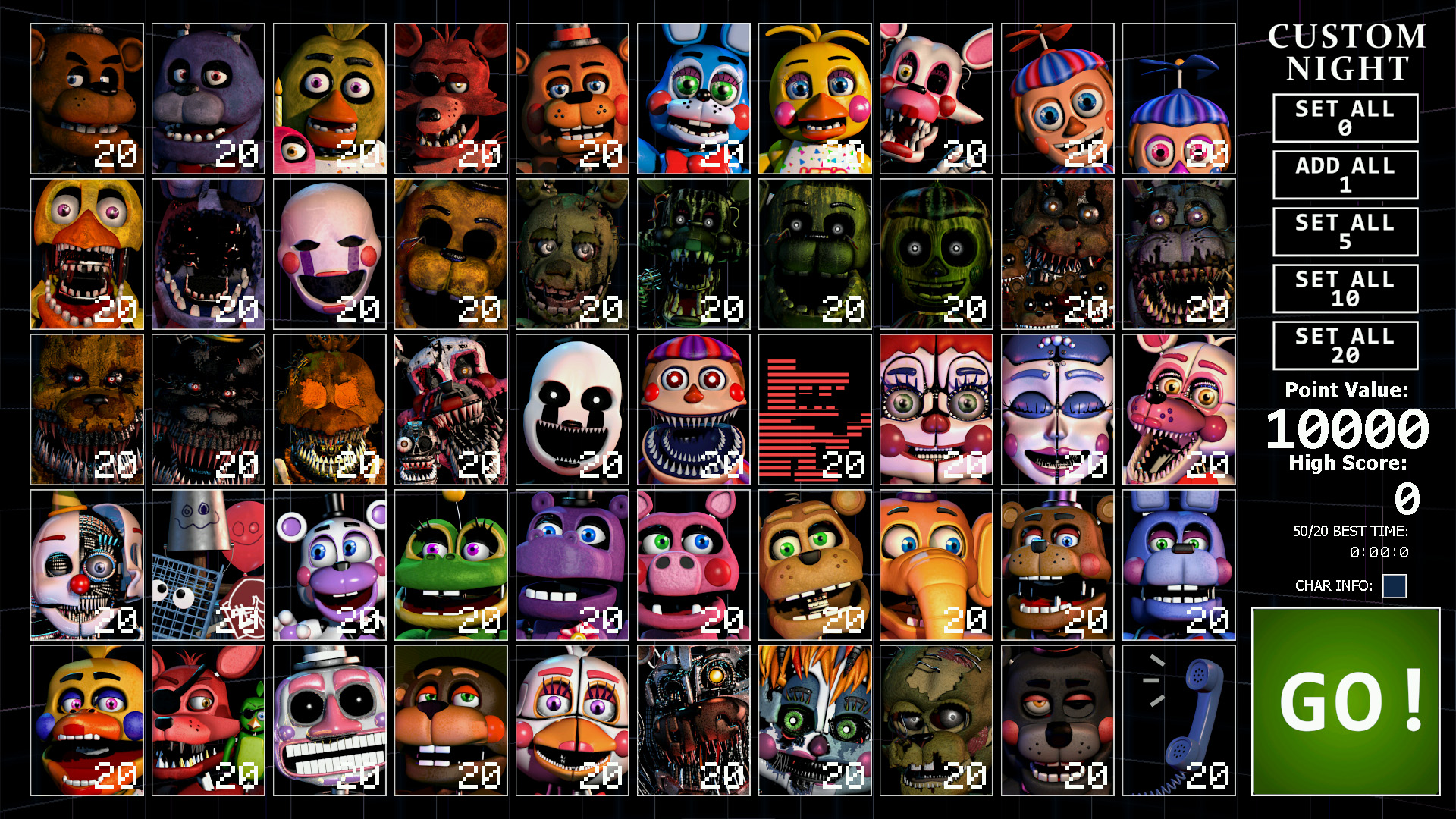Ultimate Custom Night: How To Earn 5000 Points Fast | FNaF 3
