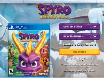 Spyro Reignited Trilogy Disc Will Only Contain First Spyro Title