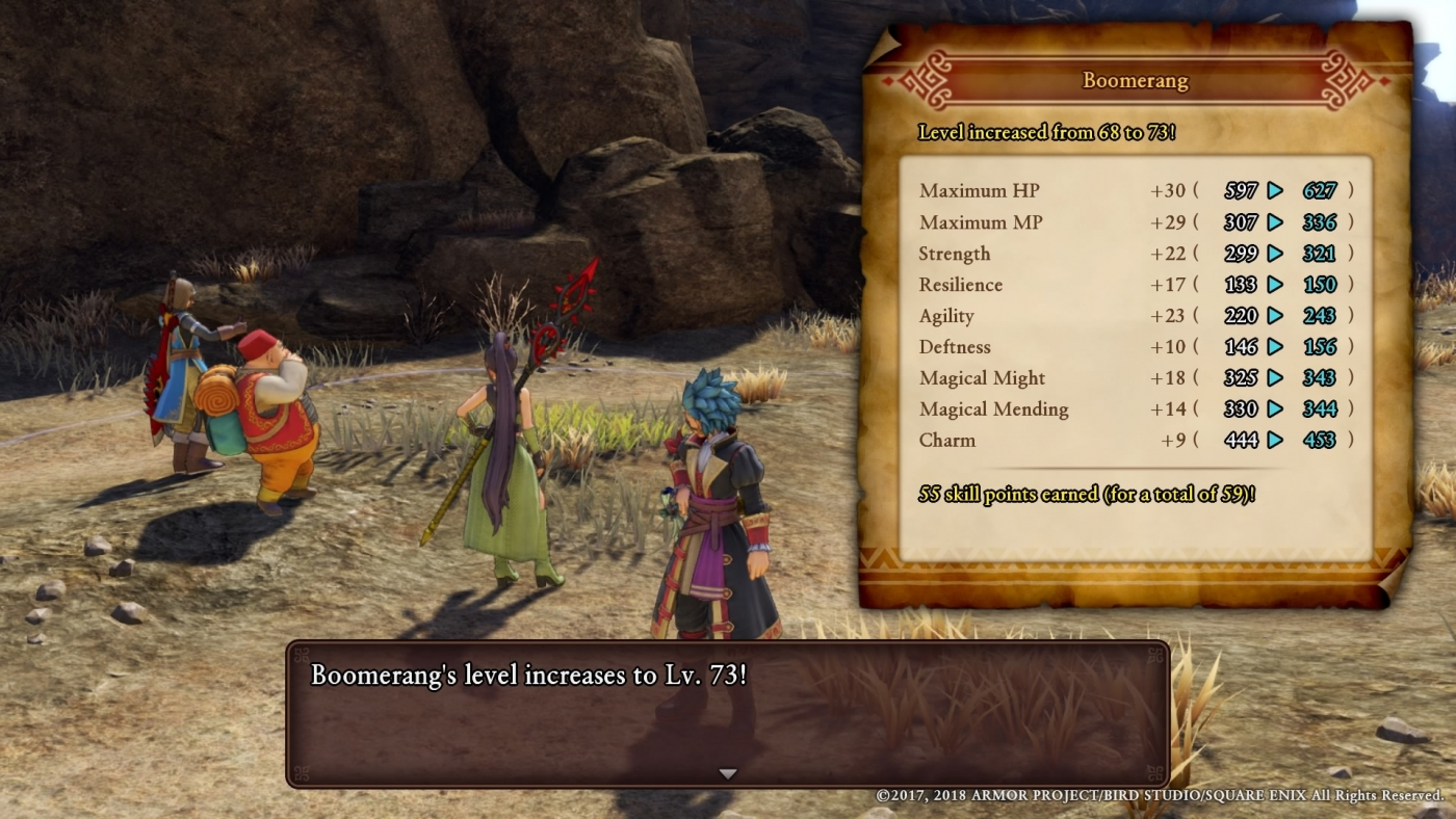 Dragon Quest 11: How To Gain 50,000+ XP In A Single Battle