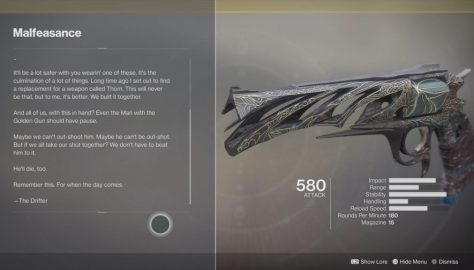 Destiny 2: Forsaken – How To Unlock The Malfeasance Hand Cannon | Exotic Guide