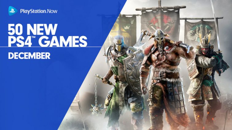 PSNow Adds 50 New PS4 Games, Headliner Title is Ubisoft's For Honor; Holiday Price Promotion Returns