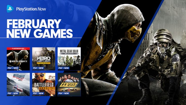 PS Now Adds Ten New Titles to streaming Service; Metro: Last Light Redux, Metal Gear HD Collection, and Mortal Kombat X Headline