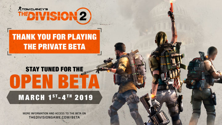 Ubisoft Announces Open Beta for The Division 2, Slated for the Beginning of March
