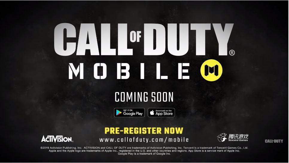 Activision Announces Call of Duty Mobile, Pre-Registration Now Available