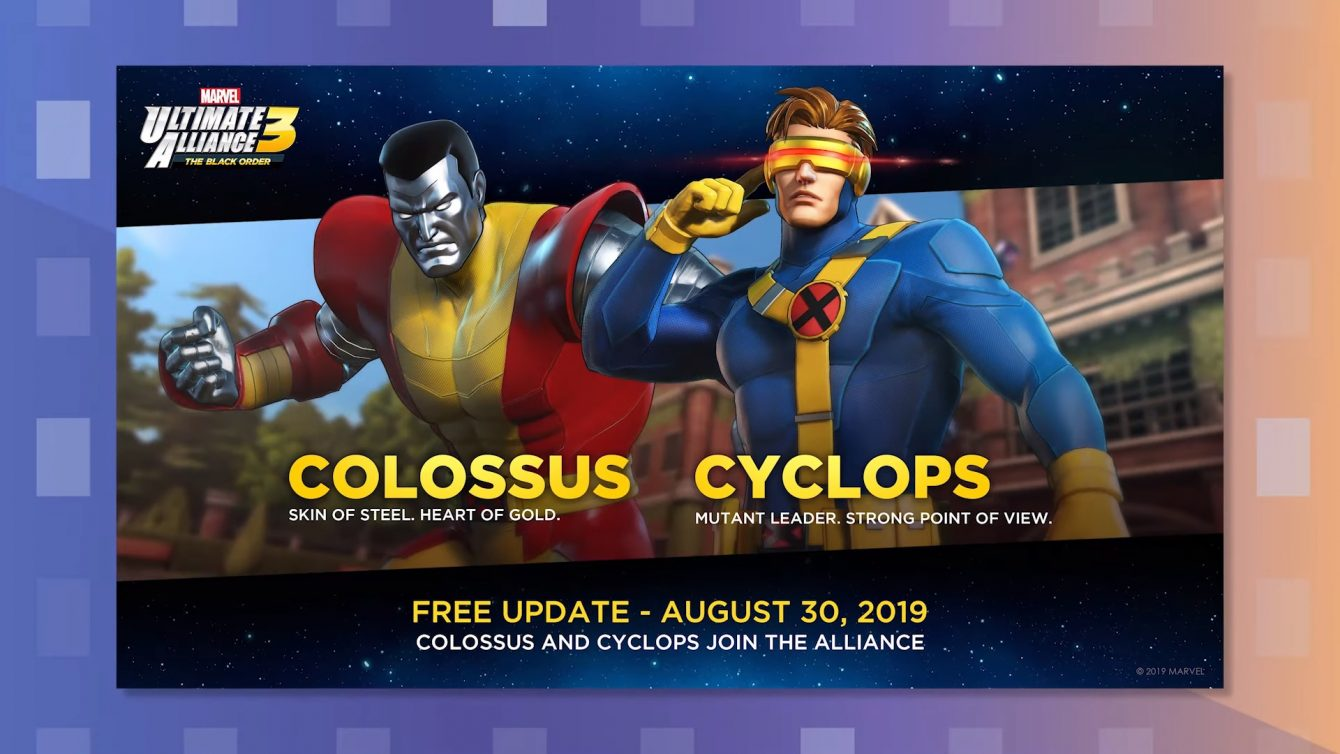 Marvel Ultimate Alliance 3 to Receive Free DLC Update Which Includes Colossus & Cyclops as well as New Character Skins