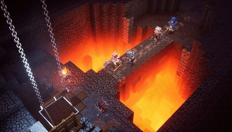 Minecraft Dungeons Screenshot Lava Bridge
