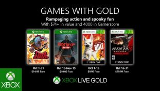 Microsoft Details Xbox Games With Gold Titles for the Month of October 2019