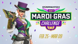 Overwatch Mardi Gras Limited Time Challenge Announced; Earn New Skin for Ashe, Unique Rewards, and More