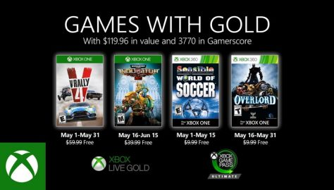 May 2020 Xbox One's Games With Gold Titles Revealed