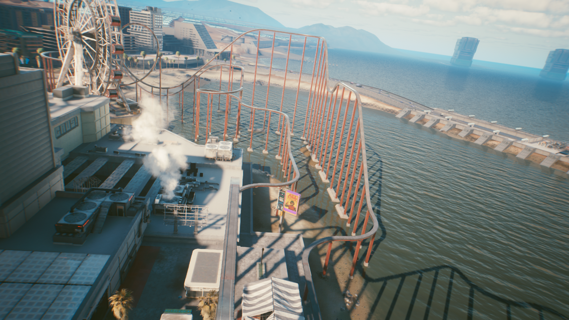 Cyberpunk 2077: Yes, You Can Ride The Rollercoaster - Here's How   Easter  Egg Guide - Gameranx